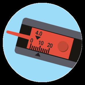 Menjava pnevmatik - Način meritve globine profila 2 / PorabimanjINFO